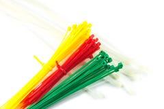 Serres-câble en nylon colorés Image stock