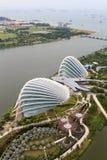 Serres chaudes aux jardins par la baie à Singapour Image libre de droits