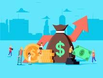 Serrez l'approvisionnement et le concept de collecte de fonds, commencent l'opportunité commerciale pour la finance d'entreprise Photo stock