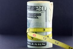 Serrez le budget/inflation Images libres de droits