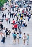 Serrez-vous à la région commerciale de Xidan, Pékin, Chine Image stock