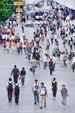 Serrez-vous à la région commerciale de Xidan, Pékin, Chine Photo stock