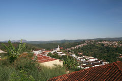 Serro, colonial city in brazil. View of serro, colonial city in minas gaerais, brazil. Today is traditional artisan cheese producer royalty free stock photography