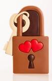 Serrure d'amour de chocolat Image libre de droits
