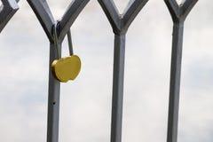 Serrure d'amour sur le pont Images libres de droits