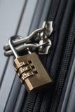 Serrure de bagage Photographie stock