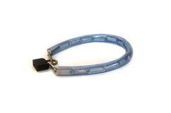 Serrure de clé de chaîne de câble de bicyclette Images stock