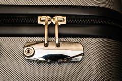 Serrure de combinaison de bagage Photo libre de droits