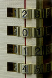 Serrure de combinaison de nouvelle année 2014 Image stock