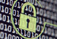 Serrure de protection de l'ordinateur Image libre de droits
