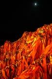 Serrure de souhait de Huashan de montagne Photographie stock libre de droits