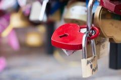 Serrure en forme de coeur d'amour Photos libres de droits
