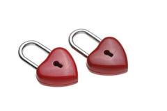 Serrure en forme de coeur minuscule, cadenas Photos stock