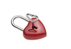 Serrure en forme de coeur minuscule, cadenas, Photographie stock libre de droits