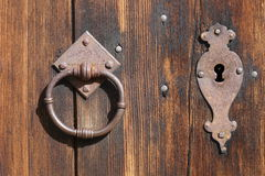 Serrure et anneau de porte Image stock