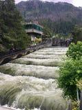 Serrure et barrage de Bonneville image libre de droits