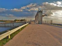 Serrure et barrage de Mayaca de port images libres de droits