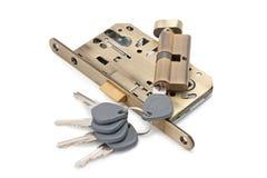 Serrure et clés Photographie stock