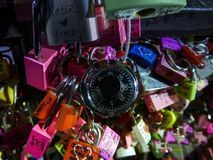 serrure et tour Corée de clé Photo libre de droits