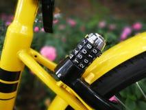 Serrure mécanique de vélo d'ofo Image libre de droits