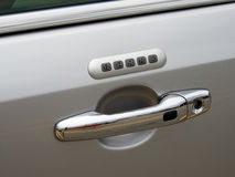 Serrure numérique de code de portière de voiture photographie stock