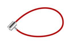 Serrure rouge de bicyclette Photo stock
