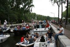 Serrure serrée de l'eau à Amsterdam Images libres de droits