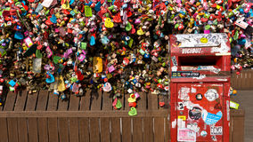 Serrures d'amour à la tour de N Séoul Photos stock