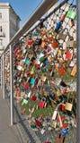 Serrures d'amour à Salzbourg, Autriche Image libre de droits