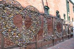 Serrures d'objet exposé d'amour chez Artfest à Toronto, Canada Image libre de droits
