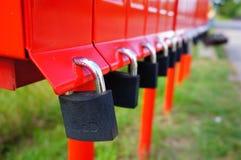Serrures de boîte aux lettres Photo libre de droits