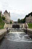 Serrures de canal de Rideau, Ottawa image libre de droits