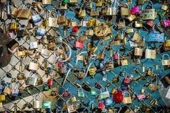 Serrures de l'amour Photographie stock libre de droits