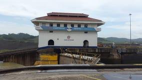 Serrures de Miraflores, maison de contrôle Image stock