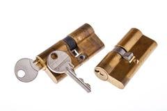 Serrures et clés de porte Images stock