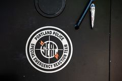 SERT logo na samochodzie policyjnym obraz royalty free