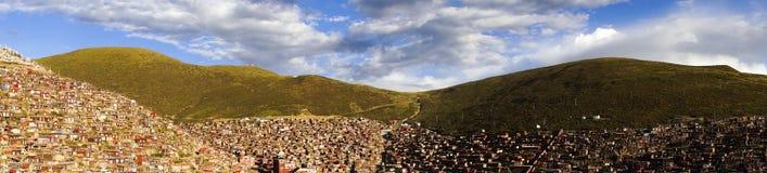 Serta Forbidden City in Tibet. Serta Forbidden City  where 10,000 monks and nuns live over 4000 m altitude in Tibet, Kham Royalty Free Stock Photos