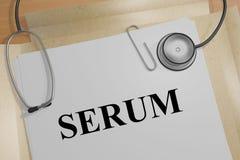 SERUM - medizinisches Konzept stock abbildung