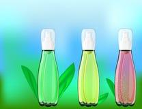 Serumcitroenen, Rozen, Aloë Vera Extracts Vitamin en Collageen Stock Afbeelding