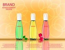 Serumcitroenen, Rozen, Aloë Vera Extracts Vitamin en Collageen FO Royalty-vrije Stock Afbeeldingen