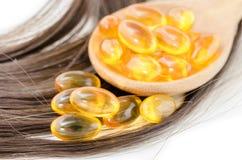 Serumkapslar för hår arkivfoton