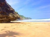 Seruni plaża obraz stock