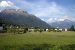 Serva and Dolada mountains in Belluno. Stock Image