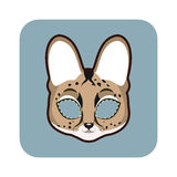 Serval mask for various festivities, parties Royalty Free Stock Photos