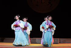 "Servant group-wealthy and influential family-Jiangxi opera ""Red pearl"" Stock Images"