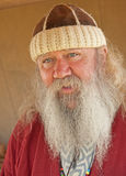 Servant in Medieval times. Portrait of Servant with long white  beard in Medieval period  seen at the ' Celebration of the Centuries ' re-enactment held at Fort Royalty Free Stock Photography