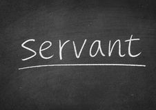 Servant. Concept word on a blackboard background royalty free stock photo