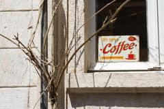We serve coffee sign Royalty Free Stock Images