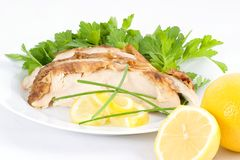 Serve Cold Lemon Chicken Stock Photography