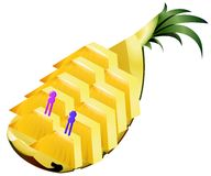 Serve Pineapple fruit illustration Royalty Free Stock Images